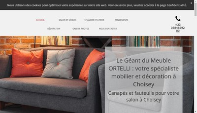 Site internet de Meubles Ortelli