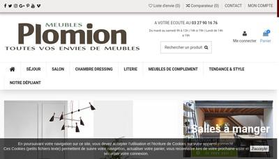 Site internet de Meubles Plomion