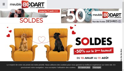 Site internet de Meubles Bodart