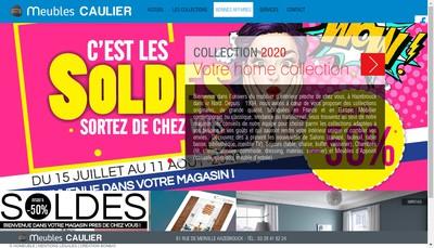 Site internet de Meubles Caulier