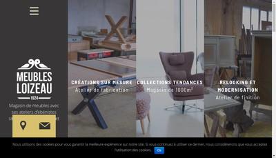 Site internet de Meubles Loizeau