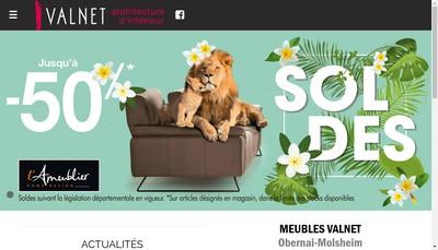 Site internet de Meubles Valnet-Style & Creation-Cote Interieure