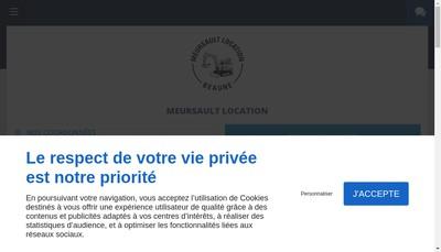 Site internet de Meursault Location