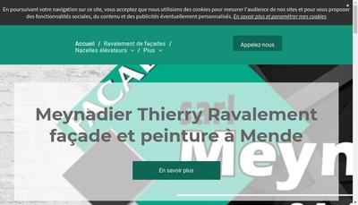 Site internet de Meynadier Facades
