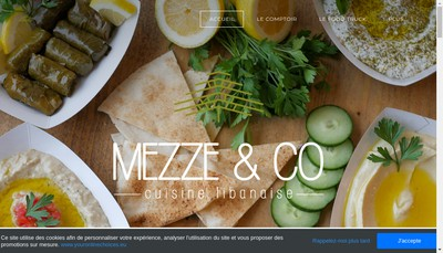 Site internet de Mezze And Co