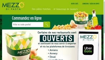 Site internet de Mezzo Di Pasta