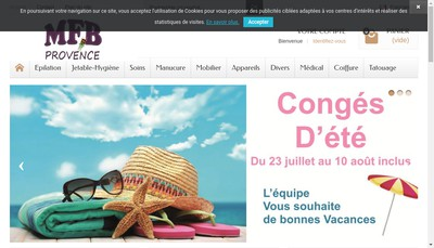 Site internet de MFB Provence