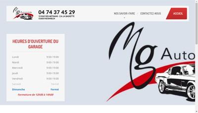 Site internet de Mg Automobile