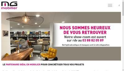 Site internet de Mg Mobilier