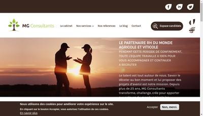 Site internet de Mg Consultants