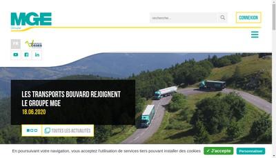 Site internet de Mge Transports et Auxiliaires