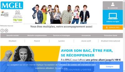 Site internet de Mutuelle Generale des Etudiants de l'Est