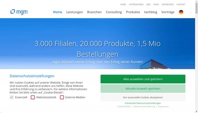 Site internet de Mgm Technology Partners France
