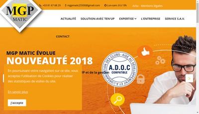 Site internet de MGP Matic
