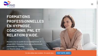Site internet de Ecole Francaise de Coaching Mhd Avenir Mhd Antreprise Ecole de Sophrologie Caycedienne Group Mhd-Efc
