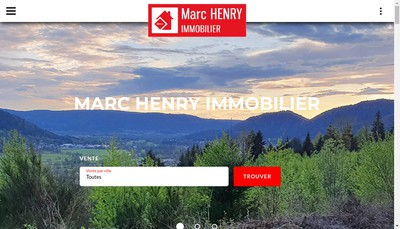 Site internet de Marc Henry Immobilier
