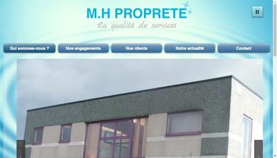 Site internet de MH Proprete