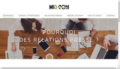 Site internet de MIA COM