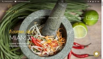 Site internet de Miam Thai