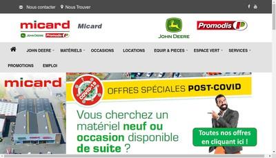 Site internet de Micard Service a l'Agriculture Micard Motoculture