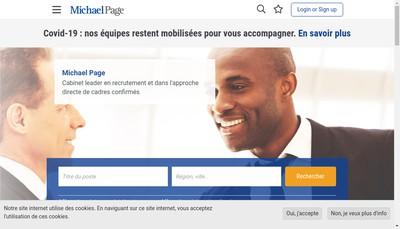 Site internet de Michael Page Nord - Michael Page Grand Ouest - Michael Page Grand Est