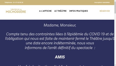 Site internet de Le Theatre de la Michodiere