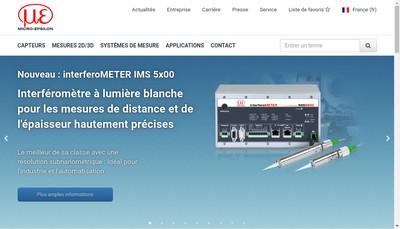 Site internet de Micro Epsilon France SARL
