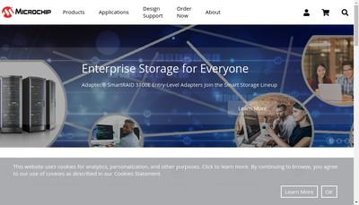 Site internet de Microchip Technology Rousset