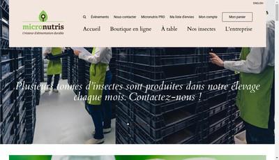 Site internet de Micronutris