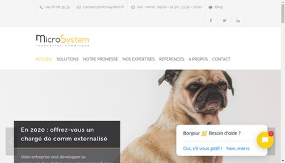 Site internet de Microsystem Declik