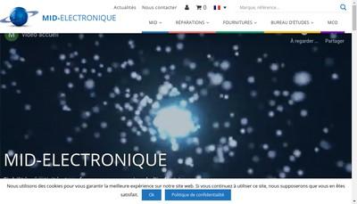 Site internet de MID Electronique SARL