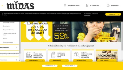 Site internet de Midas