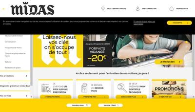 Site internet de Midas