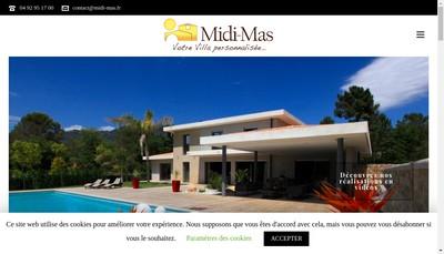 Site internet de Midi Mas