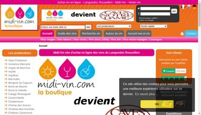Site internet de Cave Vincent Pivot