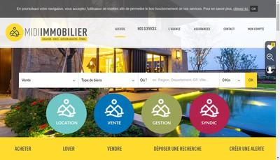 Site internet de Midi Immobilier