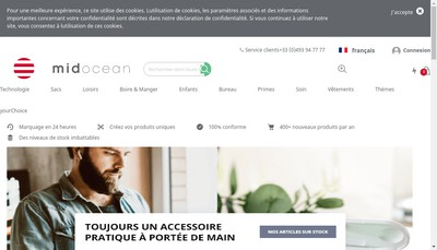 Site internet de Mid Ocean France