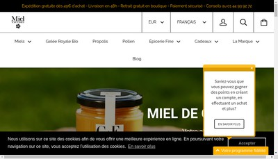 Site internet de Miel Factory