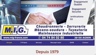 Site internet de Mig Metallerie Industrielle Giraud