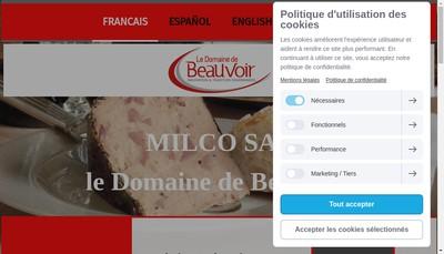 Site internet de Milco