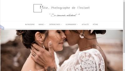 Site internet de Milie,Photographe de l'Instant