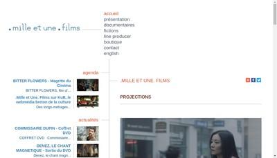 Site internet de Mille et une Films SARL