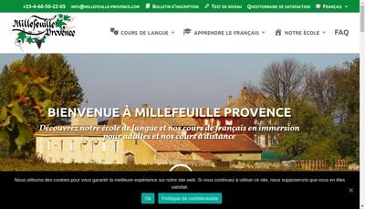 Site internet de Millefeuille Provence