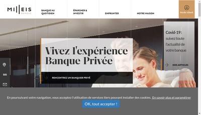 Site internet de Milleis Patrimoine