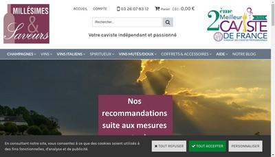 Site internet de Millesimes et Saveurs