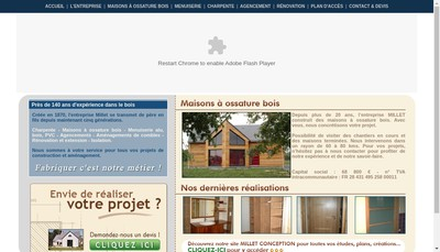 Site internet de SARL Millet