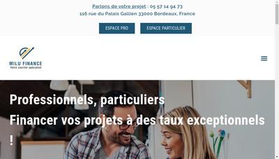 Site internet de Milu Finance