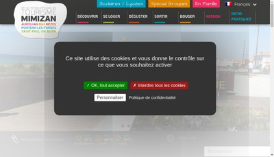 Site internet de Office Intercommunal de Tourisme