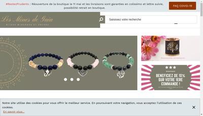 Site internet de Les Mines de Gaia