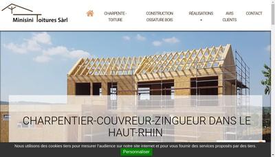 Site internet de Minisini Construction en Bois Toitures
